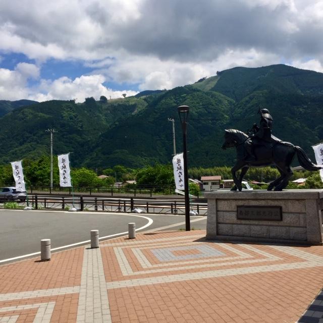 道の駅なんぶ銅像
