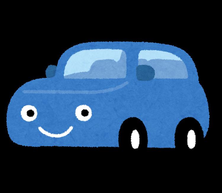 青い車イラスト